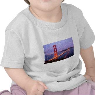 Golden Gate Bridge -- mixed media painting Tees