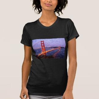 Golden Gate Bridge -- mixed media painting Tshirts