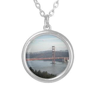 Golden Gate Bridge Round Pendant Necklace