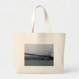 Golden Gate Bridge on a Foggy Day Canvas Bag
