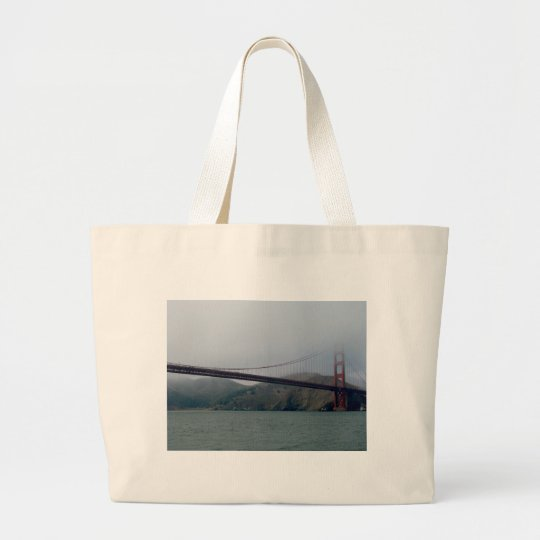 Golden Gate Bridge on a Foggy Day Large Tote Bag