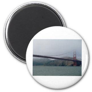 Golden Gate Bridge on a Foggy Day Magnet