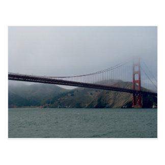 Golden Gate Bridge on a Foggy Day Postcard