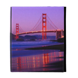 Golden Gate Bridge on Baker Beach at Sundown iPad Cases