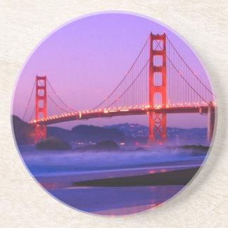 Golden Gate Bridge on Baker Beach at Sundown Drink Coaster