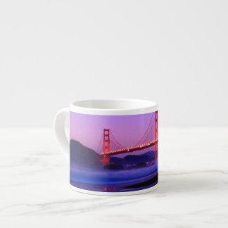 Golden Gate Bridge on Baker Beach at Sundown Espresso Cup