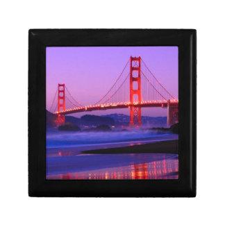 Golden Gate Bridge on Baker Beach at Sundown Jewelry Boxes