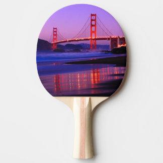 Golden Gate Bridge on Baker Beach at Sundown Ping Pong Paddle