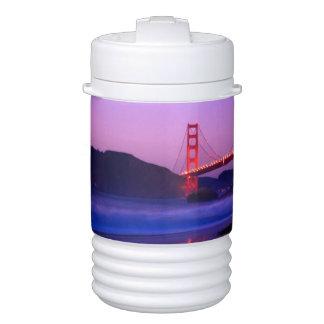 Golden Gate Bridge on Baker Beach at Sundown Igloo Beverage Dispenser