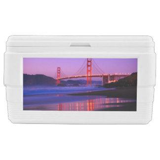 Golden Gate Bridge on Baker Beach at Sundown Ice Chest