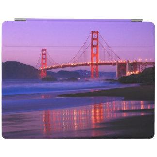 Golden Gate Bridge on Baker Beach at Sundown iPad Cover