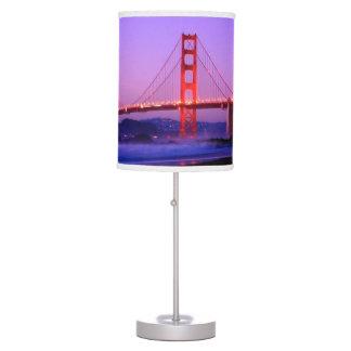 Golden Gate Bridge on Baker Beach at Sundown Lamp