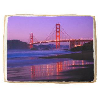 Golden Gate Bridge on Baker Beach at Sundown Jumbo Cookie