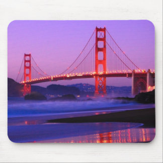 Golden Gate Bridge on Baker Beach at Sundown Mouse Pad