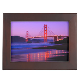Golden Gate Bridge on Baker Beach at Sundown Keepsake Box