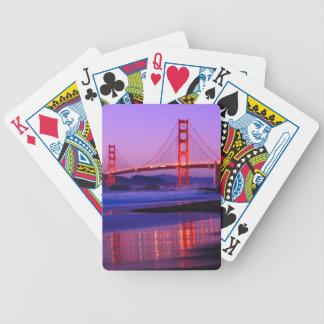 Golden Gate Bridge on Baker Beach at Sundown Poker Cards