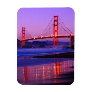 Golden Gate Bridge on Baker Beach at Sundown Rectangle Magnets