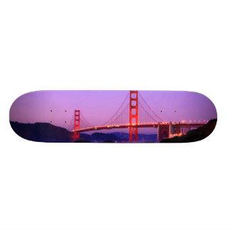 Golden Gate Bridge on Baker Beach at Sundown Skateboard Deck