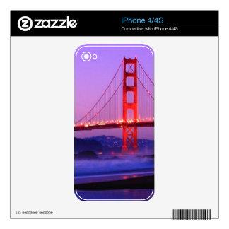 Golden Gate Bridge on Baker Beach at Sundown Decals For The iPhone 4