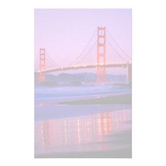 Golden Gate Bridge on Baker Beach at Sundown Stationery