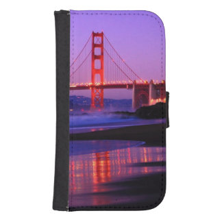 Golden Gate Bridge on Baker Beach at Sundown Wallet Phone Case For Samsung Galaxy S4