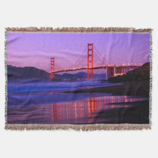 Golden Gate Bridge on Baker Beach at Sundown Throw