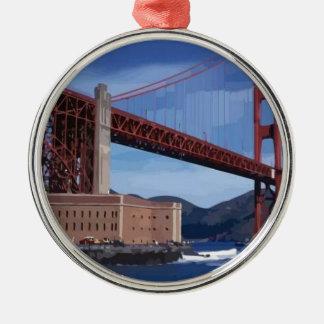 Golden gate bridge christmas tree ornaments