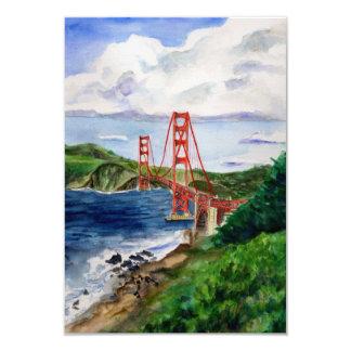 Golden Gate Bridge Painting Invite Cards