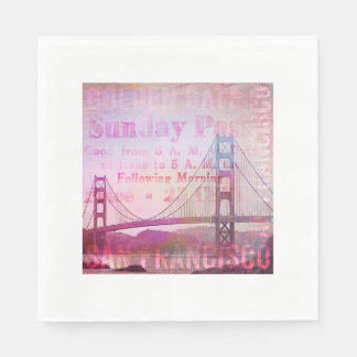 Golden Gate Bridge Paper Napkin
