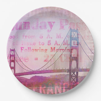 Golden Gate Bridge Paper Plate