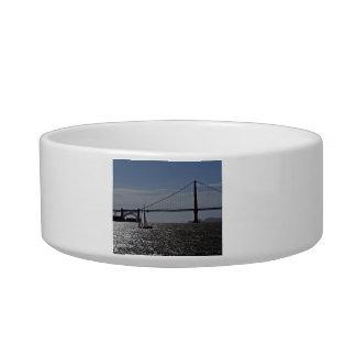 Golden Gate bridge Cat Food Bowls