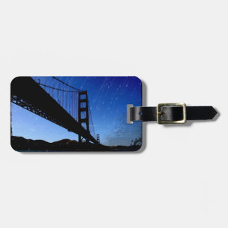 Golden Gate Bridge Photo Edit - Rainy Night Bag Tag