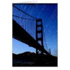 Golden Gate Bridge Photo Edit - Rainy Night Card