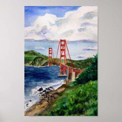 golden gate bridge drawing clip art. Golden Gate Bridge Poster