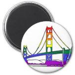 Golden Gate Bridge Rainbow Pride 2 Inch Round Magnet