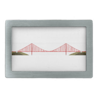 Golden Gate Bridge Rectangular Belt Buckle