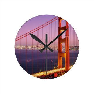 Golden Gate Bridge Round Clock