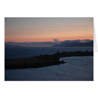 Golden Gate Bridge - Salmon Sky Card