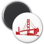 Golden Gate Bridge - San Francisco, CA 2 Inch Round Magnet
