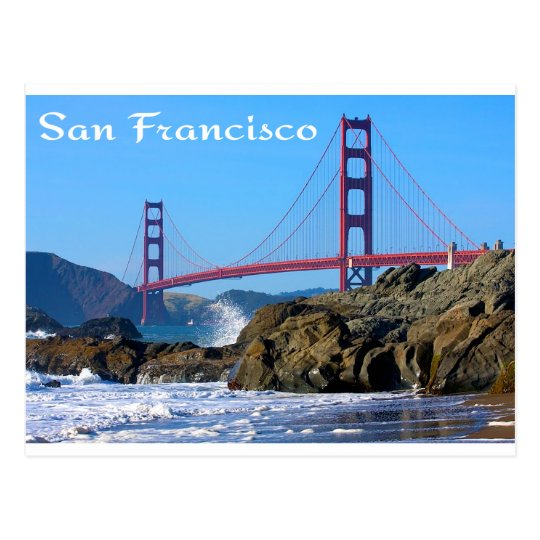 Golden Gate Bridge San Francisco California Sunset Picture: Golden Gate Bridge San Francisco CA Postcard