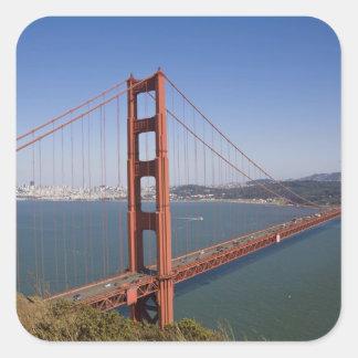 Golden Gate Bridge, San Francisco, California, 10 Square Sticker