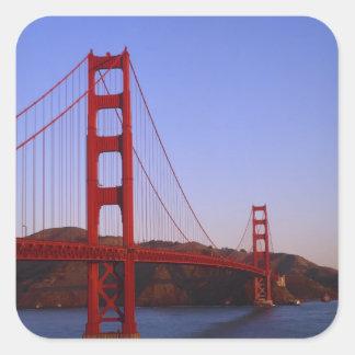Golden Gate Bridge, San Francisco, California, 2 Square Stickers