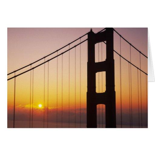 Golden Gate Bridge, San Francisco, California, 3 Greeting Card