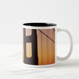 Golden Gate Bridge, San Francisco, California, 3 Two-Tone Coffee Mug