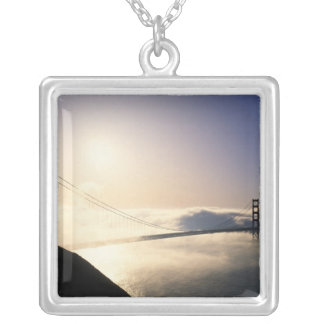 Golden Gate Bridge, San Francisco, California, 4 Square Pendant Necklace