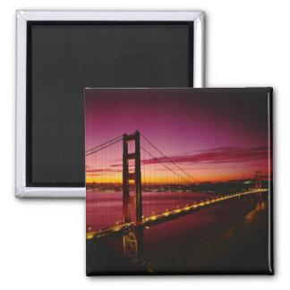 Golden Gate Bridge, San Francisco, California, 5 2 Inch Square Magnet