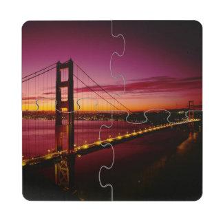 Golden Gate Bridge, San Francisco, California, 5 Puzzle Coaster