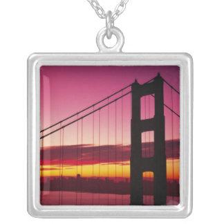Golden Gate Bridge, San Francisco, California, 6 Square Pendant Necklace