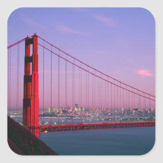 Golden Gate Bridge, San Francisco, California, 7 Square Sticker