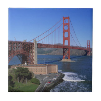 Golden Gate Bridge, San Francisco, California 7 Small Square Tile